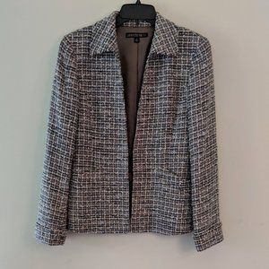 Lafayette 148 • Tan & Blue Tweed Blazer Size 6